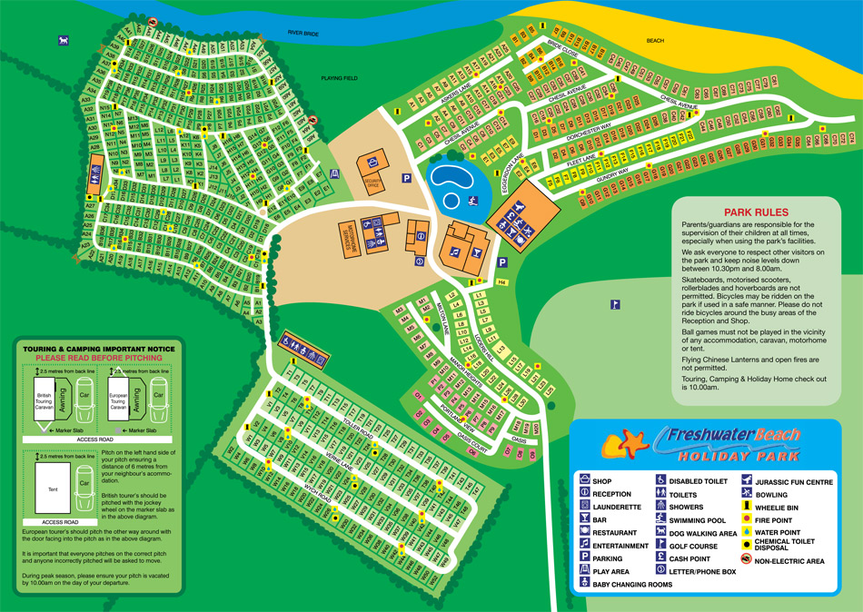 Freshwater Beach Holiday Park Map